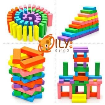 Wood Toy ของเล่นไม้ บล็อกไม้ตึกถล่มหรือไม้จังก้า แบบสี (image 1)