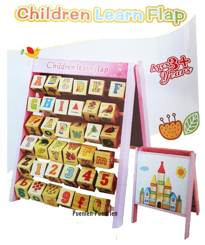 Wood toy ของเล่นไม้ กระดานแม่เหล็ก-กระดานลูกเต๋า ABC