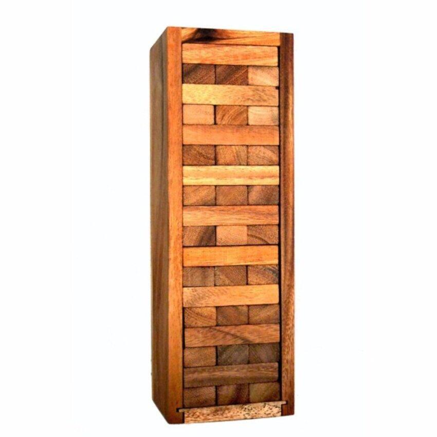 Wood Toy ของเล่นไม้ Number Block (Size s) Wooden JenGa Game 54 Pcs