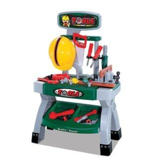 Worktoys ชุดโต๊ะเครื่องมือช่าง ชุดใหญ่ (สีเขียว )