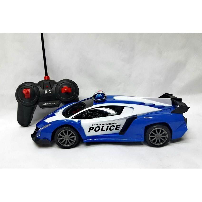 Worktoys รถบังคับ รถตำรวจบังคับ รีโมทคอนโทรลไร้สาย (น้ำเงิน)
