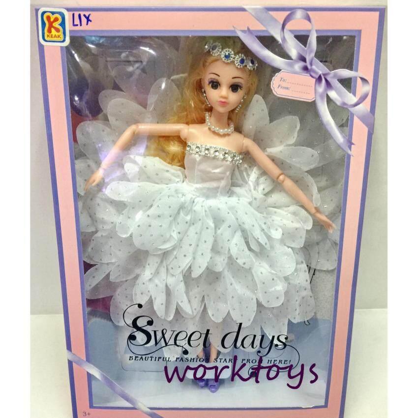 Worktoys ตุ๊กตาเจ้าหญิง ตุ๊กตาบาบี้ ใส่ชุดราตรี งอแขนได้