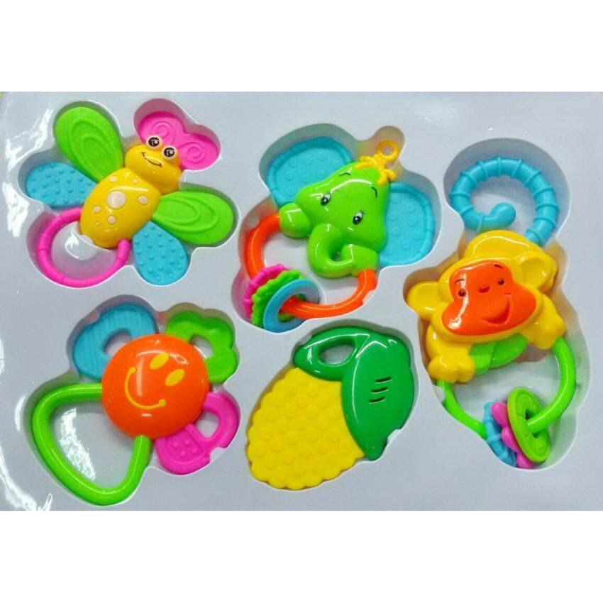 Worktoys ของเล่นเด็ก ยางกัด และของเล่นเขย่ามือ 5 ชิ้น