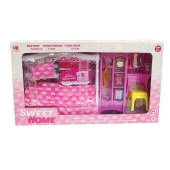 share ชุดห้องนอนบาร์บี้ Sweet Bedroom (สีชมพู)