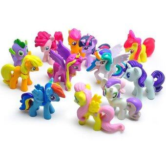 Yika 12 Pcs Set My Little Pony Cake Toppers Cupcake Toys Figurines(Multicolor)