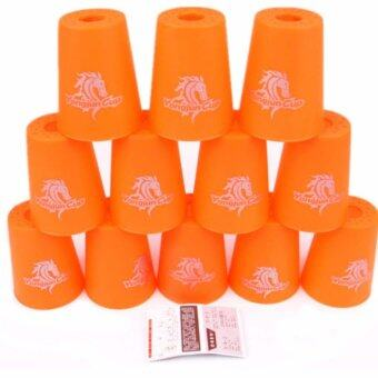 แก้วสแต็ค YJ Cup Set 12Pcs Speed Stacks Cups Indoor Sports Stacking Rapid Fast For Family Game (Orange)