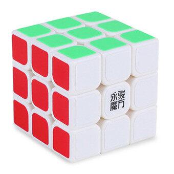 [สินค้า YJ] ความเร็วอาชีพมังกร Rdy รูบิคเรียบรูปปริศนา 3x3-ขาว