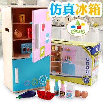 YOULEBI ชุดเครื่องครัวจำลองทำจากไม้ สำหรับเด็กเล็ก