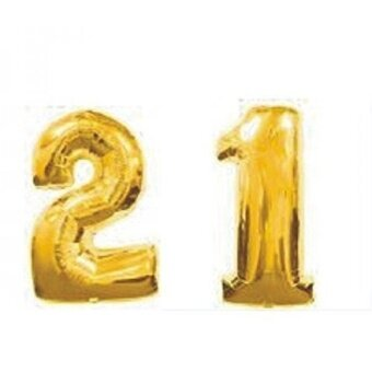 ZiYan 40 Inch Giant 21th Gold Number Balloons - intl