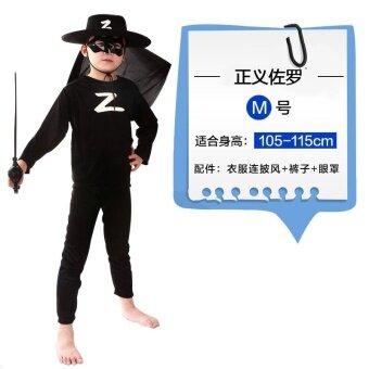 Zorro 178g ฮาโลวีนแน่นเสื้อผ้าเครื่องแต่งกาย
