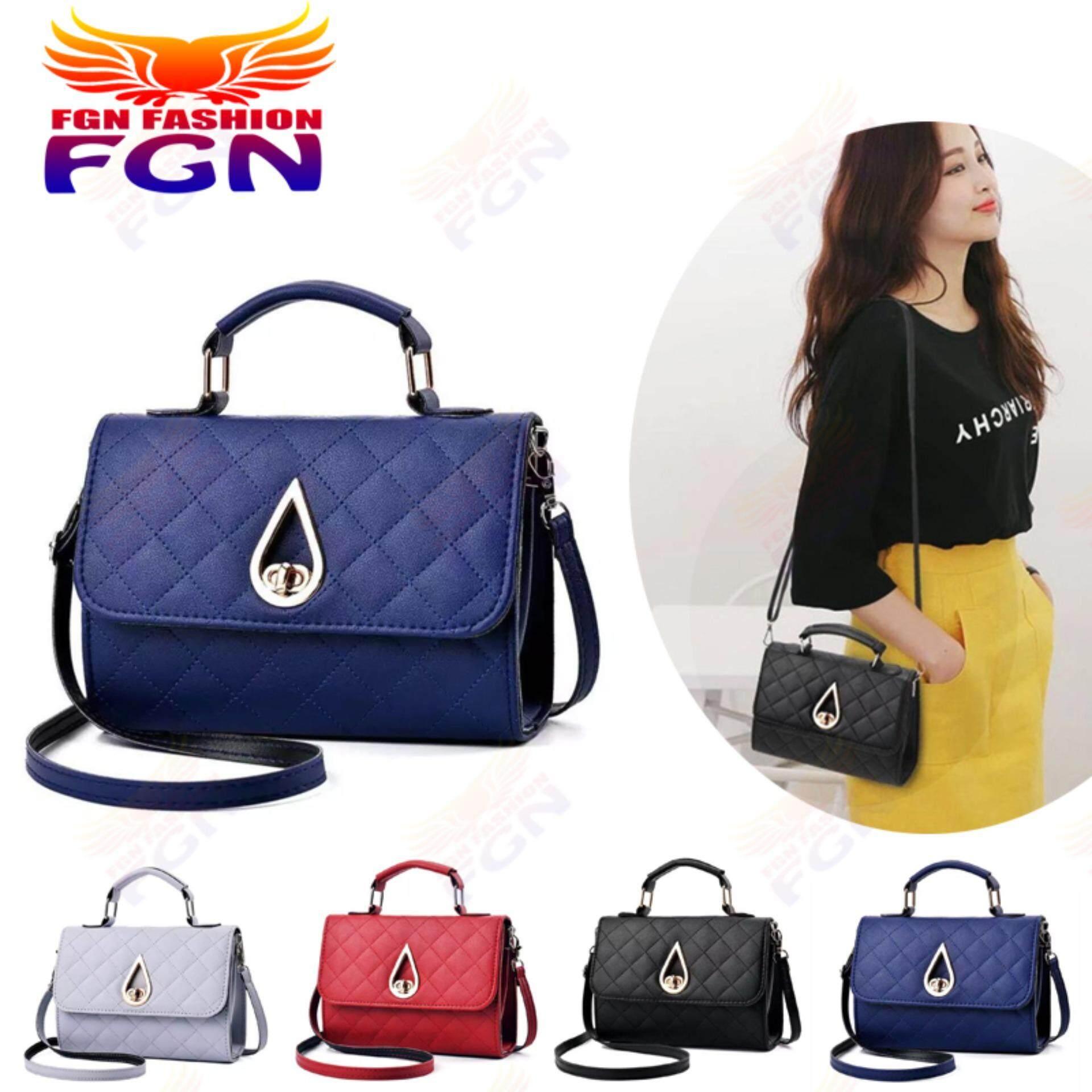 กระเป๋าสะพายพาดลำตัว นักเรียน ผู้หญิง วัยรุ่น กระบี่ FGN กระเป๋า กระเป๋าสะพาย กระเป๋าสะพายพาดลำตัว Women Shoulder bag FGN 086 มีสีให้เลือก4สี (สีฟ้า)