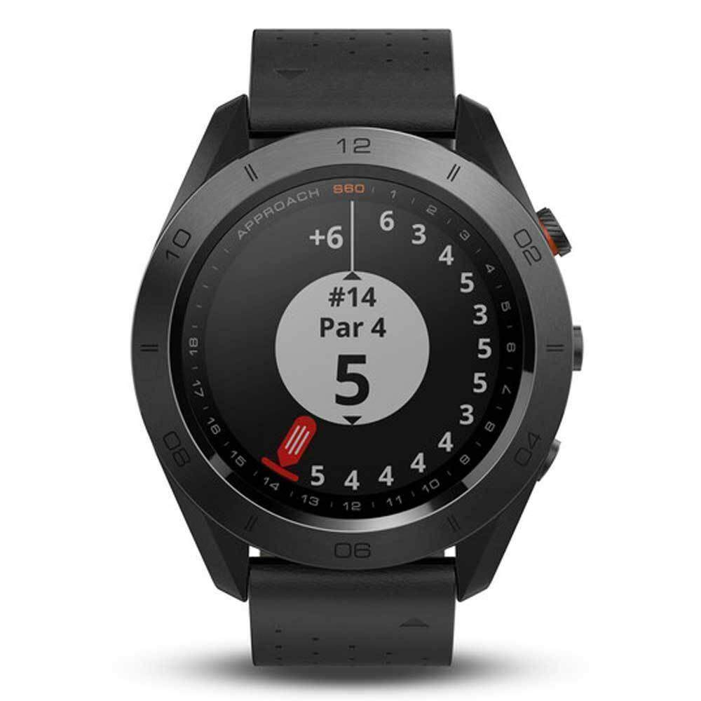 ยี่ห้อไหนดี  พิษณุโลก Garmin Approach S60 GM-010-01702-22 Smart Digital Black Leather Unisex Smartwatch