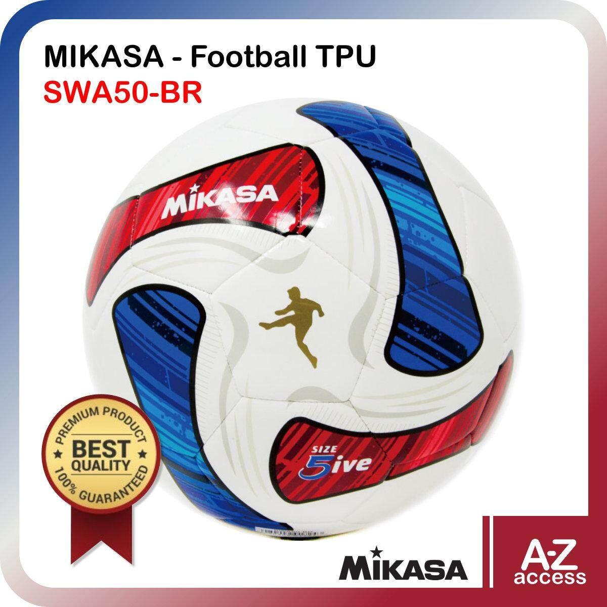 ยี่ห้อไหนดี  ประจวบคีรีขันธ์ MIKASA ฟุตบอลหนังเย็บ มิกาซ่า Football TPU SWA50