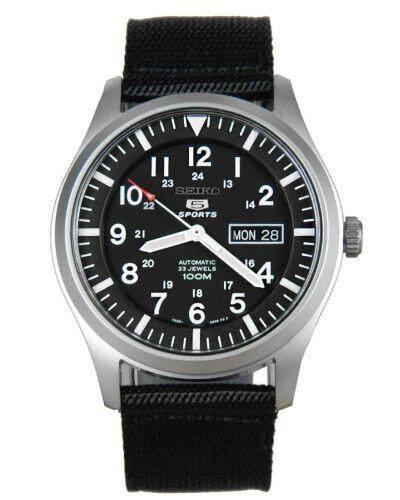 สอนใช้งาน  กำแพงเพชร JamesMobile นาฬิกาข้อมือผู้ชาย Seiko 5 Sport Automatic รุ่น SNZG15K1 นาฬิกากันน้ำ100เมตร นาฬิกาสายผ้าสีดำ