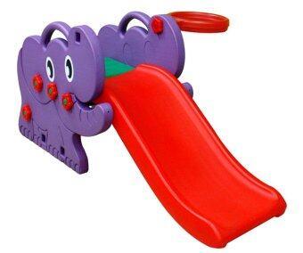 Happy Box สไลด์ช้างน้อย (สไลด์+แป้นบาส) รุ่น JM-706A - violet/red