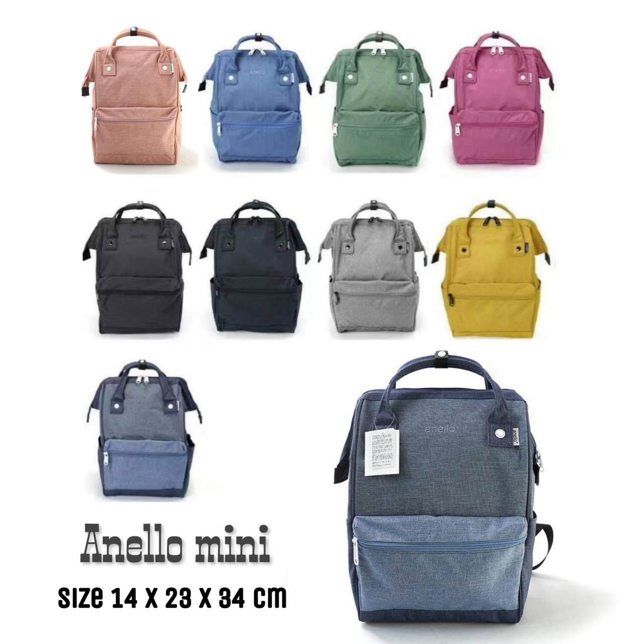 สอนใช้งาน  นครนายก Anello Mini Backpack-Heat Tone Waterproof (DBL)