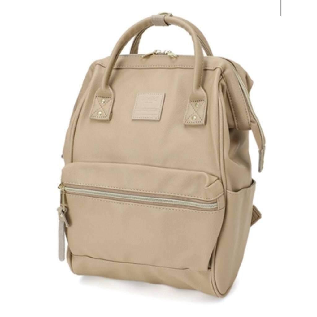 ยี่ห้อนี้ดีไหม  พังงา Anello PU Leather สีเบท มินิ ของแท้ กระเป๋าเป้สะพายหลังรุ่นหนังนิ่ม ไซส์มินิ กว้าง 24x สูง 35x หนา14 cm