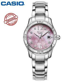 Casio SHN-4019DP-4A Women's Sprinkled Bezel Metal Fashion Pink Dial Watch