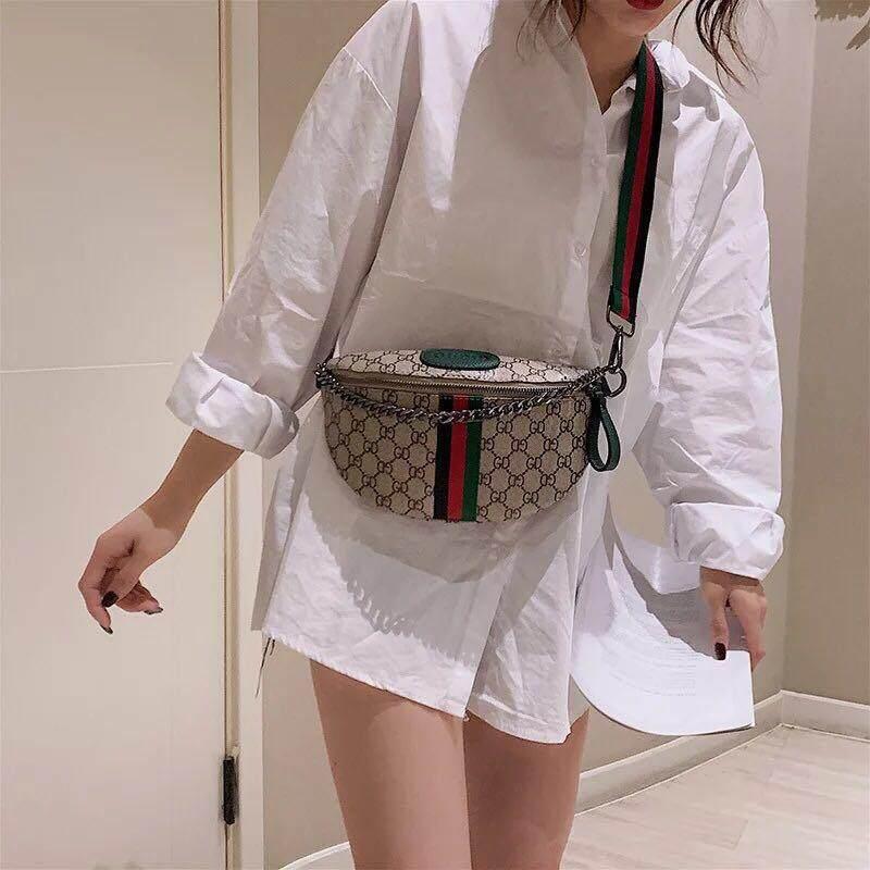 กระเป๋าสะพายพาดลำตัว นักเรียน ผู้หญิง วัยรุ่น สุรินทร์ กระเป๋าคาด อก คาดเอว แฟชั่น รุ่นใหม่