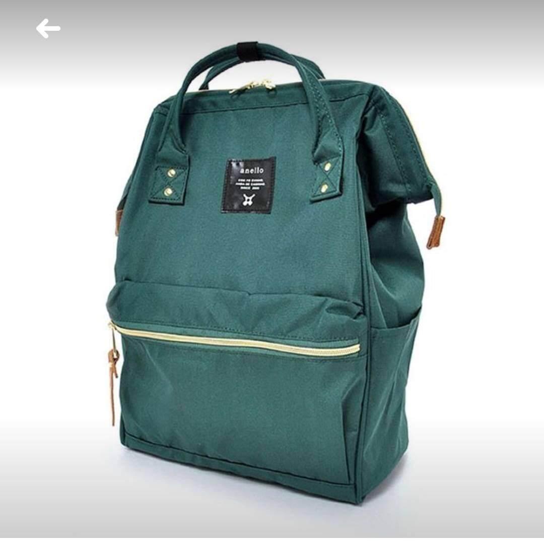 ยี่ห้อไหนดี  นนทบุรี Anello Regular Backpack เขียวเข้ม
