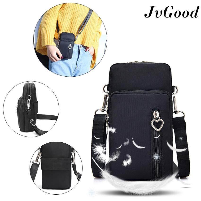 กระเป๋าเป้ นักเรียน ผู้หญิง วัยรุ่น สิงห์บุรี JvGood กระเป๋าสะพายไหล่ Women Handbags Crossbody Bag Cell Phone Mini Bag running Cell Phone Bags Phone Pouch Case Zipper Casual Purse Lightweight Roomy Pockets Smartphone Sports Armband Bag