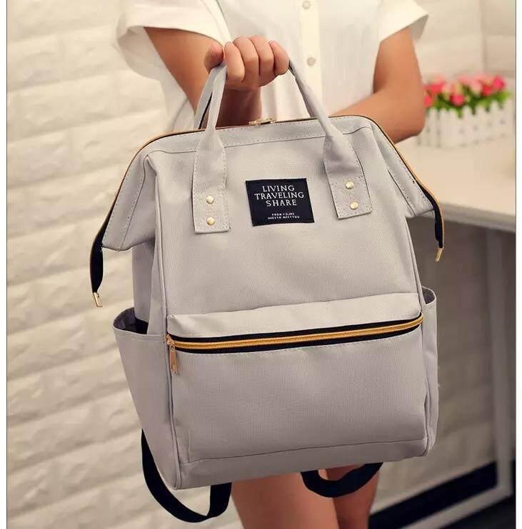 กระเป๋าถือ นักเรียน ผู้หญิง วัยรุ่น อุดรธานี BAIFA SHOP กระเป๋า กระเป๋าเป้ กระเป๋าสะพายหลังสีกรม Woman Backpack NO  LT 02