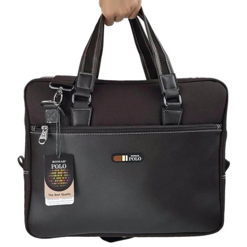 กระเป๋าโน๊ตบุ๊ค Laptop ขนาด 16 นิ้ว(Brown) รหัสสินค้า RMNB4294-1 ส่งฟรี Kerry