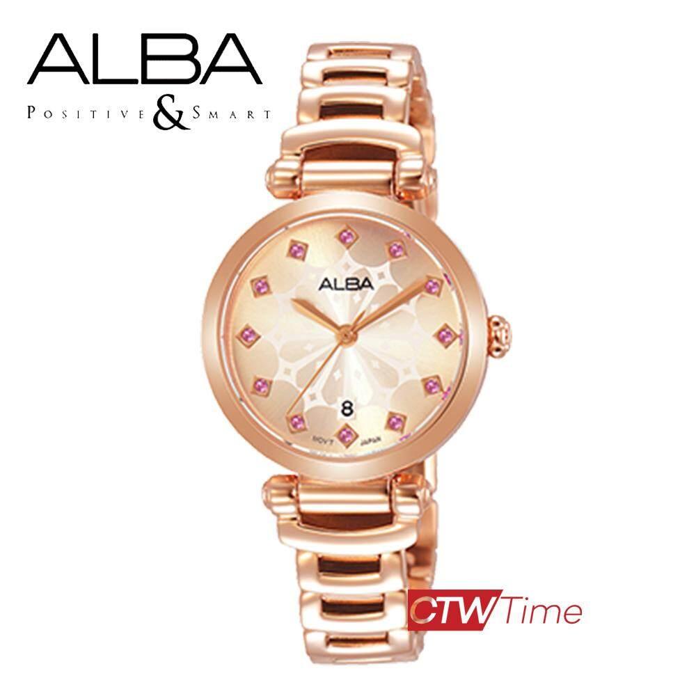 ALBA Ladies Dial Rose Gold นาฬิกาข้อมือผู้หญิง สแตนเลสแท้ รุ่น AH7N78X1 (สีโรสโกลด์)