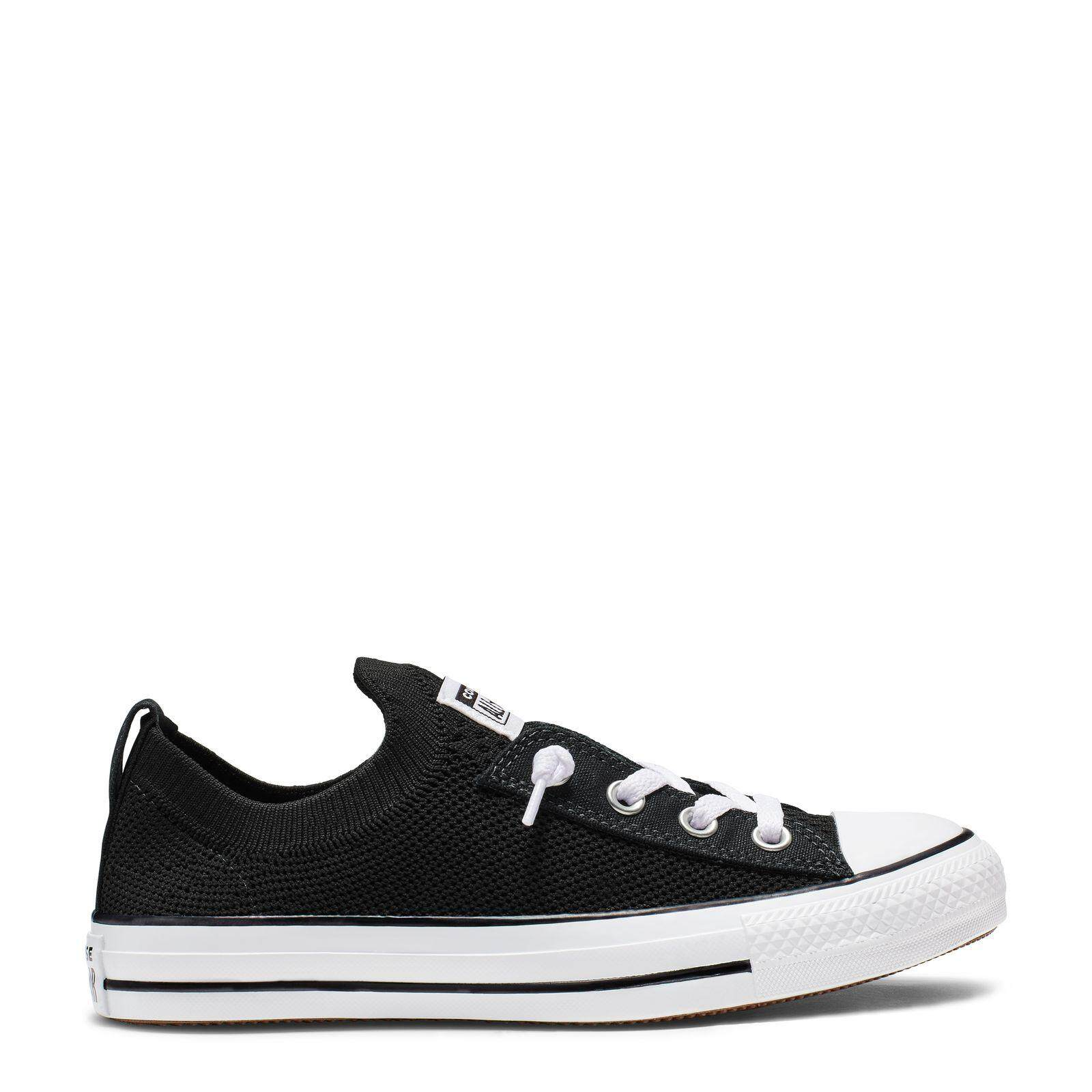 กาญจนบุรี CONVERSE CHUCK TAYLOR ALL STAR SHORELINE KNIT - SLIP - BLACK/WHITE/BLACK - WOMEN - 565489C - 565489CF9BK