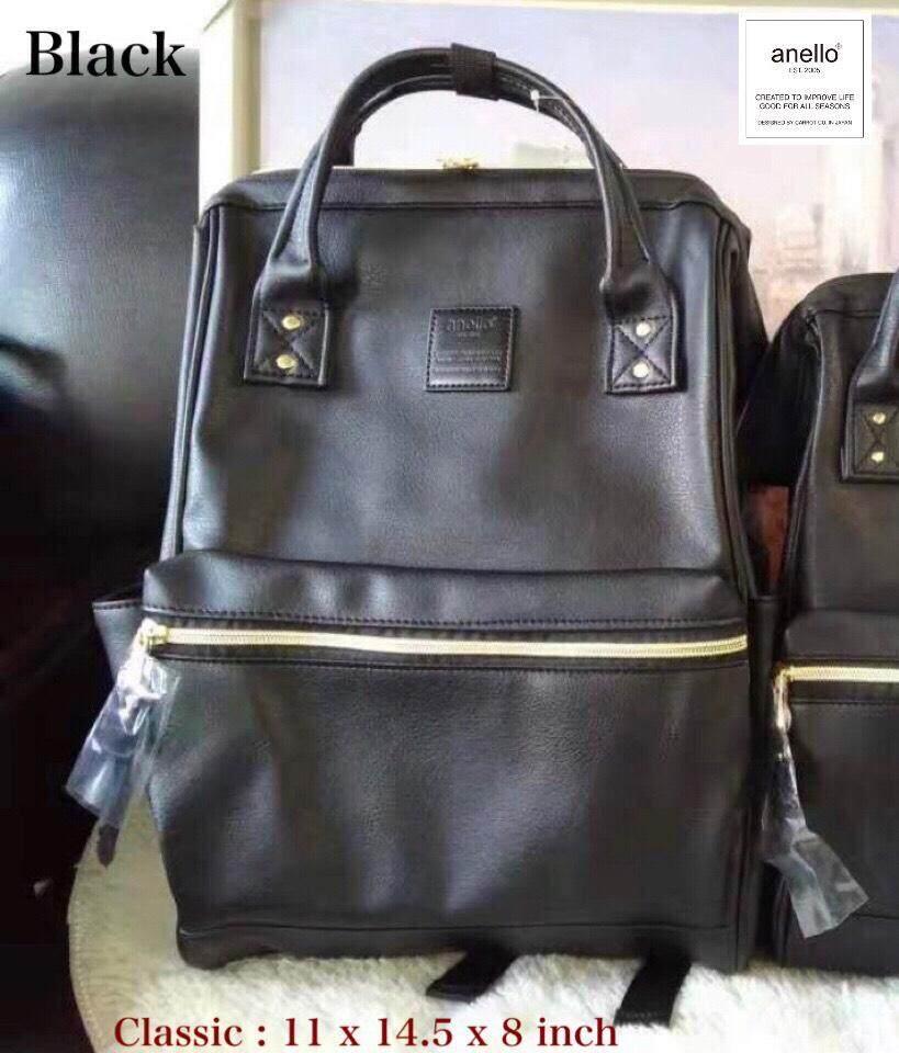 การใช้งาน  แพร่ รุ่น Classic Anello Faux Leather Hinged Clasp Backpack