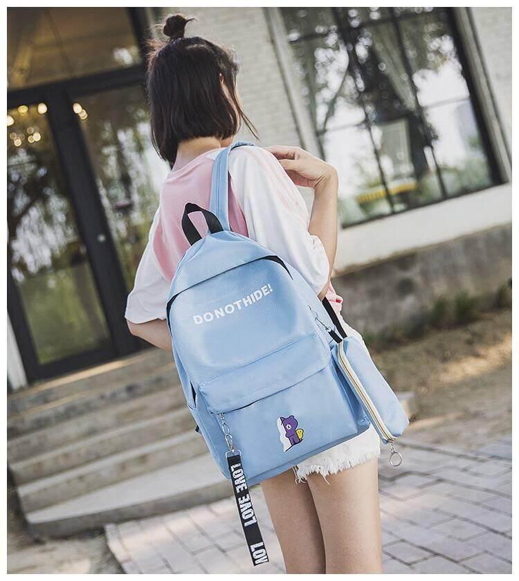 กระเป๋าสะพายพาดลำตัว นักเรียน ผู้หญิง วัยรุ่น ลำปาง กระเป๋าเป้ สะพายหลัง เซต3ชิ้น กระเป๋าแฟชั่น EVE B222