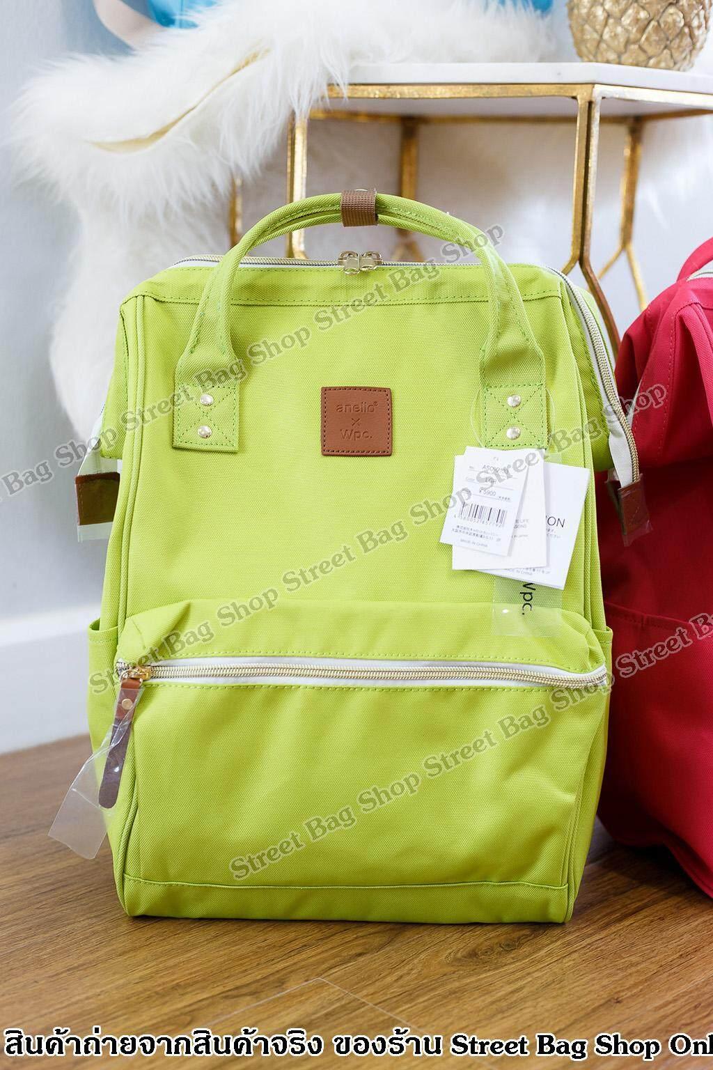 สุพรรณบุรี [รูปถ่ายจากสินค้าจริง]  ฉลองใหม่ สาขา 2 New 2019 ของแท้ กระเป๋าเป้ Anello x Wpc Collaboration Backpack