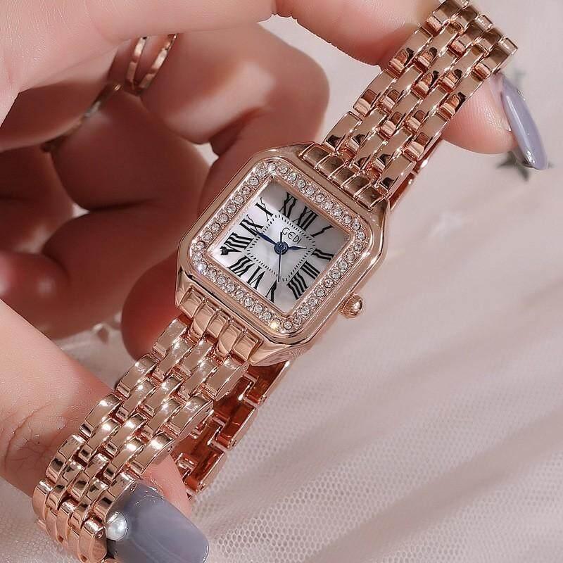 Riches.lzd GEDI songdi new fashion single product big square dial temperament watch fashion watch สินค้าพร้อมส่ง แถมกล่องฟรี (มีบริการเก็บเงินปลายทาง) R-066