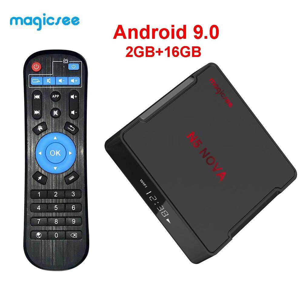 ดีไหม  ภูเก็ต N5 NOVA Android 9.0 TV Box 4GB RAM 32GB ROM 64GB RK3318 Media Player 2.4G 5G WiFi Bluetooth 4K HD ชุดสมาร์ท 2GB 16GB