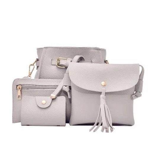 กระเป๋าสะพายพาดลำตัว นักเรียน ผู้หญิง วัยรุ่น จันทบุรี Better mall เซ็ต 4 ใบ กระเป๋าสะพายข้าง กระเป๋าสตางค์ผู้หญิง กระเป๋าแฟชั่น กระเป๋าถือผู้หญิง สีดำ
