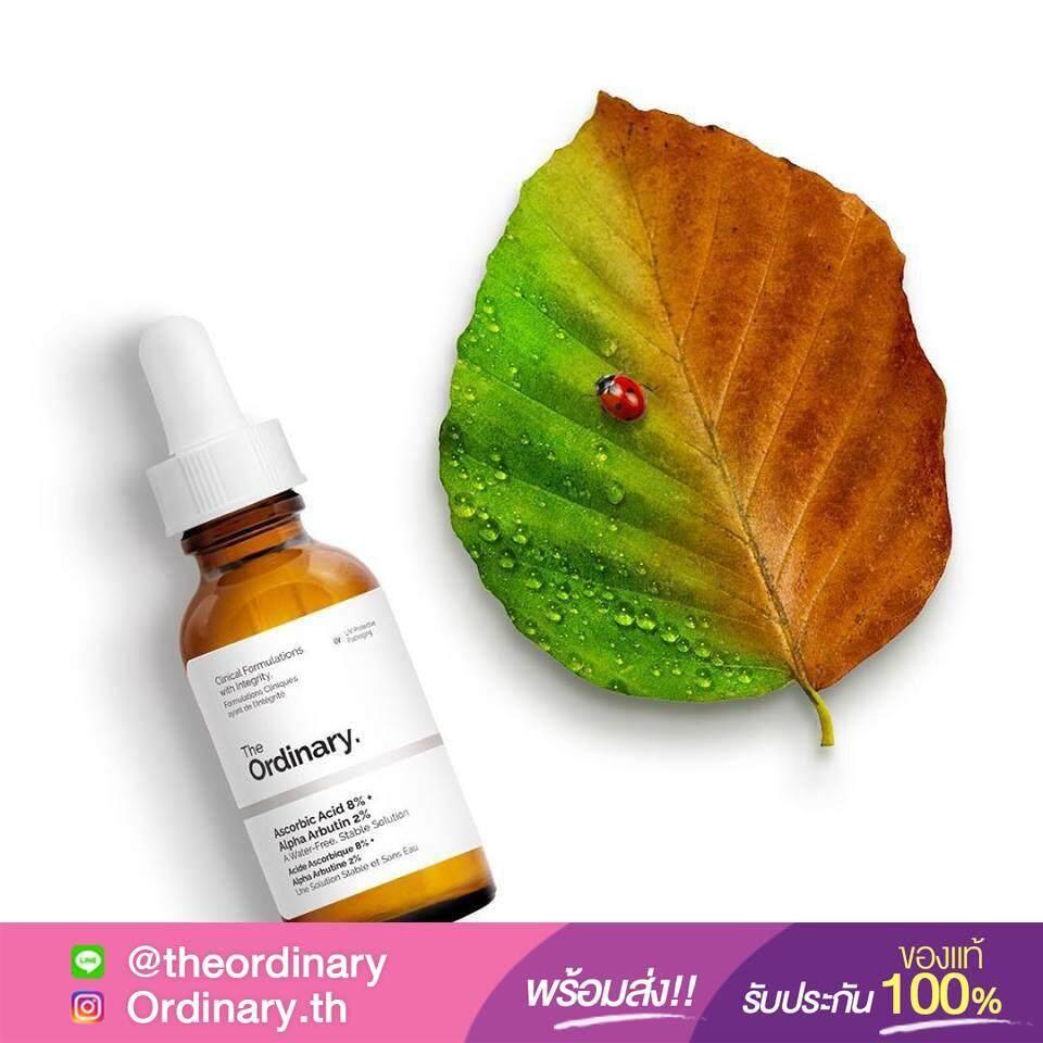 ขายดีมาก! [พร้อมส่ง สินค้าของแท้ 100%+ส่งKerryฟรี]  The Ordinary - Ascorbic Acid 8% + Alpha Arbutin 2% (30ml)