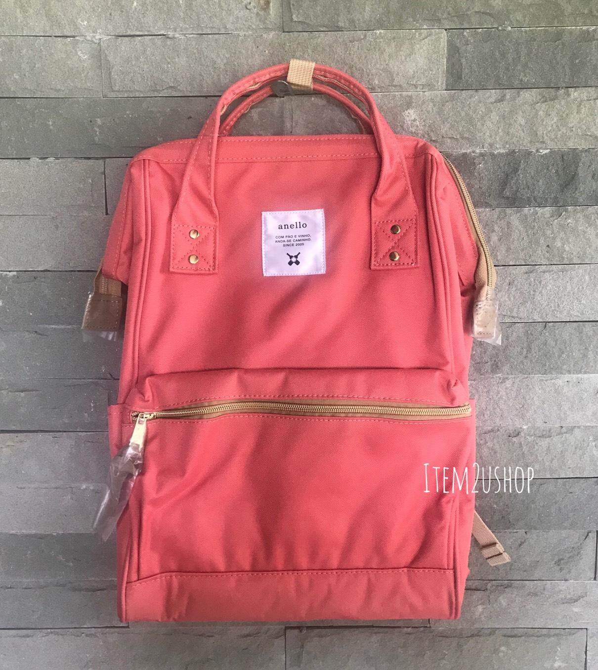 ตรัง Anello canvas mini/classic Coral pink