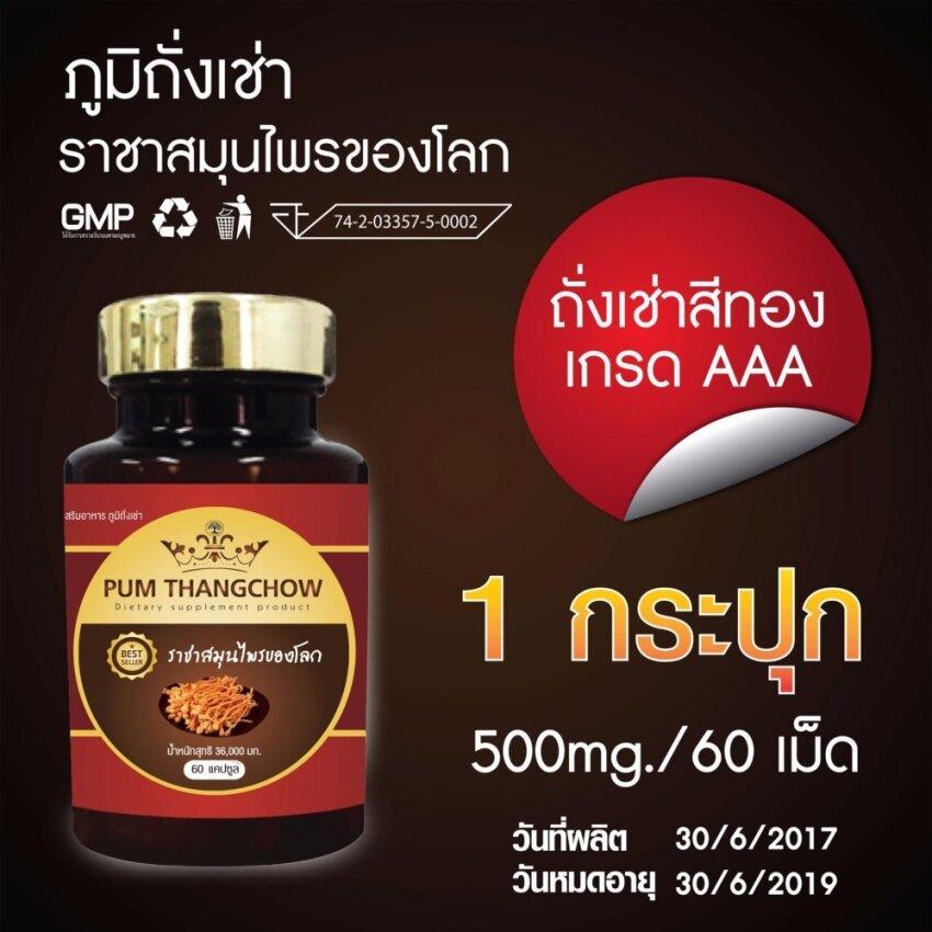 (1 กระปุก )ภูมิถั่งเช่า อาหารเสริม ถั่งเช่า ถั่งเช่าแท้ ถั่งเช่าสีทอง เห็ดถั่งเช่าสีทอง ยาสมุนไพรแท้ 100% ยาบำรุงร่างกาย ผลิตภัณฑ์เสริมอาหาร อาหารเสริมผู้ชาย Pumthangchow 500มก. 1 กระปุกมี 60 แคปซูล Amy