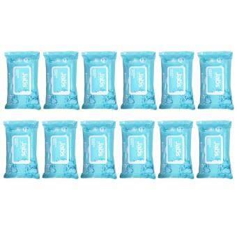 แจ๊บส์ แผ่นเช็ดทำความสะอาดน้ำแร่ธรรมชาติ (1 กล่อง 12 ห่อ ห่อละ 45 แผ่น)