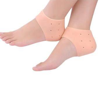ลดราคา ซิลิโคนส้นเท้า ซิลิโคนถนอมส้นเท้า สีเนื้อ 1 คู่