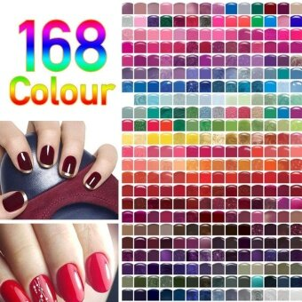 168 Colors Nail Gel Polish Led UV Soak Off Gel Nail Art Long Lasting Gel Makeup - intl