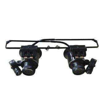 ประกาศขาย 20X Watch Repair Dental Loupes Binocular Glasses Style MagnifyingGlass with LED Lights Eyewear Magnifier - intl