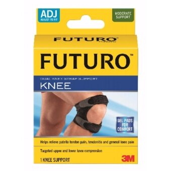 3เอ็ม ฟูทูโร่™ อุปกรณ์พยุงลูกสะบ้าเข่า แถบรัดคู่ แบบปรับกระชับได้ 3M Futuro™ Dual Knee Strap Support