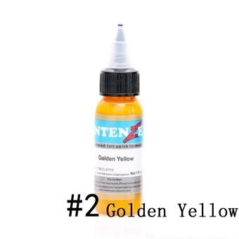 30ml/Bottle Professional Tattoo Inks 14 Colors Tattoo Pigment InksSet for Body Tattoo Art Kit Beauty (2# Golden Yellow) - intl