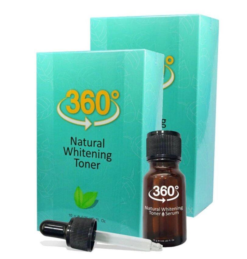 360 Natural Whitening Toner Serum เนเชอรัล ไวท์เทนนิ่ง โทนเนอร์ (2 ขวด)