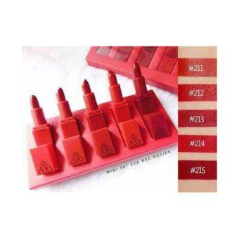 Harga 3CE Red Recipe Lip Color Mini Kit