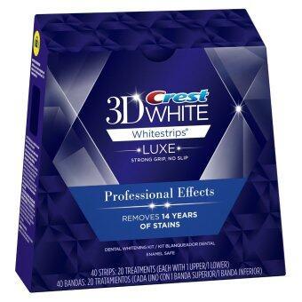 3D crest White Whitestrips แผ่นแปะฟอกฟันขาว 20 ซอง (40ชิ้น)