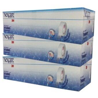 3M Nexcare First Aid Transpore 3เอ็ม เน็กซ์แคร์ ทรานสพอร์เทปแต่งแผลชนิดใส ขนาด:1นิ้วx5หลา บรรจุ12ม้วน(3กล่อง)