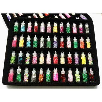 48 Color DIY manicure Nail Art Powder Nail Glitter - intl