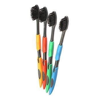 เปรียบเทียบราคา 4pcs/lot Bamboo Charcoal Nano Professional Adults Toothbrush(Random Color) - intl